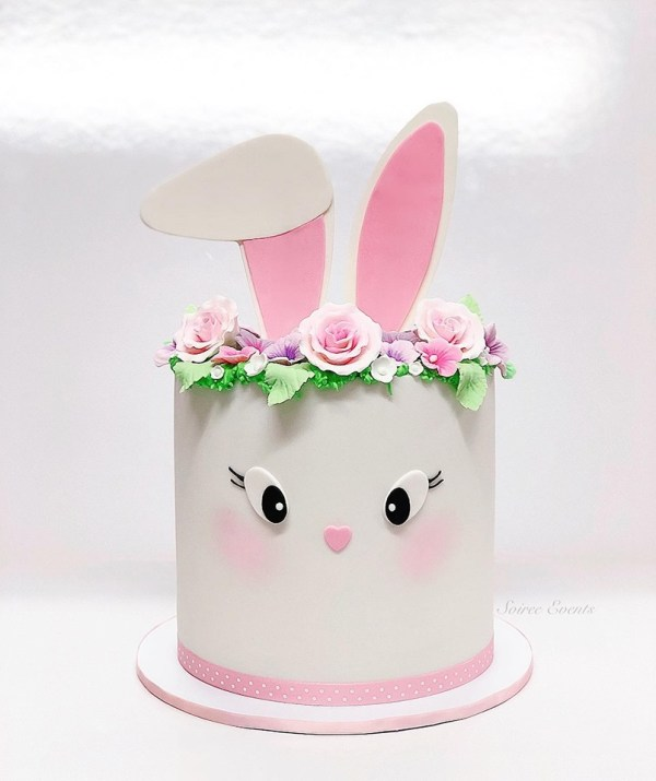 bunny and flower cake 1