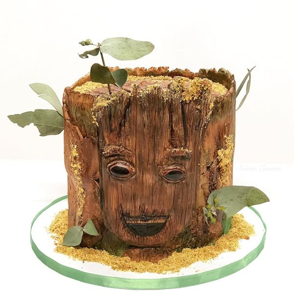 groot guardians of the galaxy cake