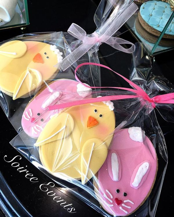 2 pack easter chicks and bunny cookies
