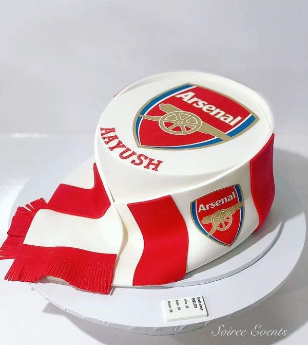 arsenal football club cake