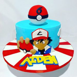 ash catcher pokemon cake