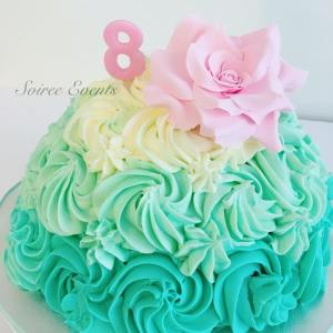 buttercream dome cake