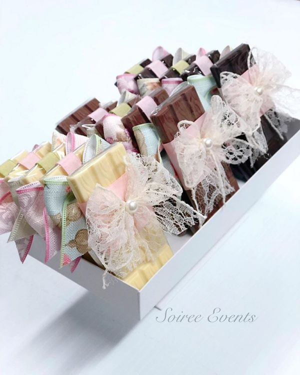 lace bow wrapped chocolates 2
