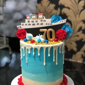 ombre buttercream cruise cake