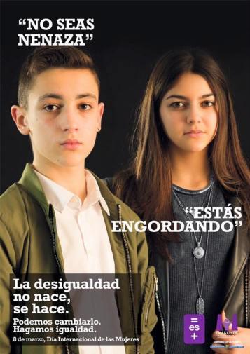 Imagen de la Campaña La igualdad se hace no se nace, de Emakunde, Pasís Vasco, 8 marzo 2016