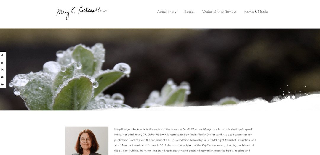 SIGdesign site for Mary Rockcastle