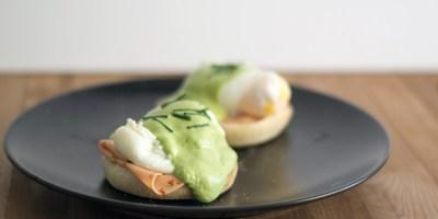 Egg Benedict Matcha Hollandaise