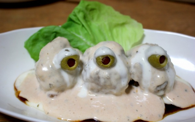 [FOOD] These Parasyte meatballs look like they are staring into your soul