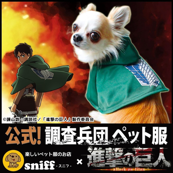 [LOOT] Dogs can now join the Survey Corps as they get official Attack on Titan costumes