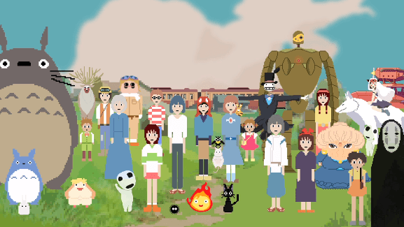 [ANIME] An 8-bit tribute to the one and only Hayao Miyazaki