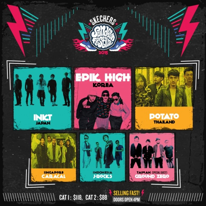 [ENTERTAINMENT] SKECHERS SUNDOWN FESTIVAL 2015 – 5 pairs of tickets to be given away!