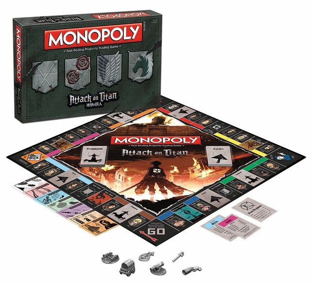 Attack on Titan gets its own Monopoly board game