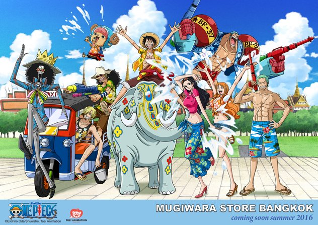 One Piece to open its own Mugiwara Store in Bangkok
