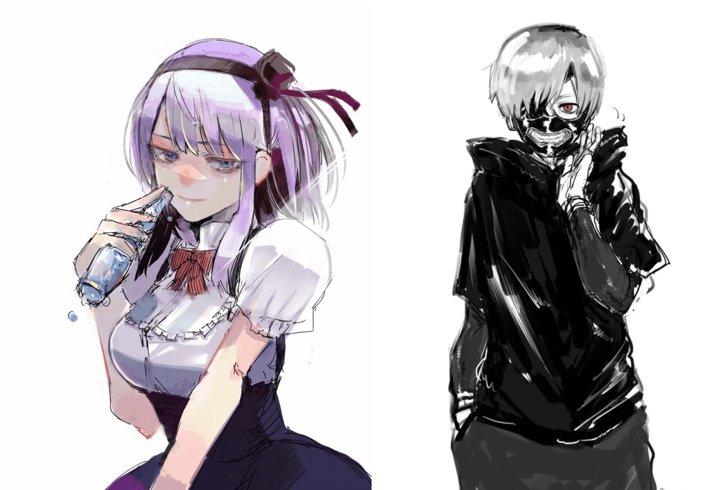 Dagashi Kashi and Tokyo Ghoul mangaka pay tribute to one another