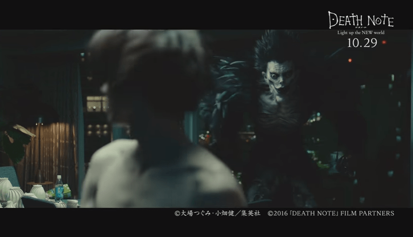 Death Note Light up the NEW world clip reveals the return of Ryuk