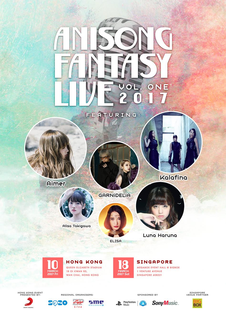 Line Up for Anisong Fantasy Live vol. 1 2017 Announced