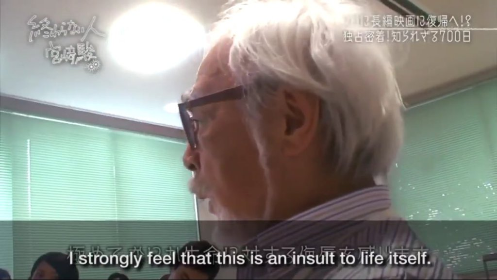 "Hayao Miyazaki calls AI CG Animation Presentation as ""An insult to Life Itself"""