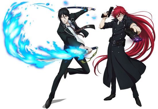 Black Butler and Blue Exorcist characters swap costumes for special collaboration