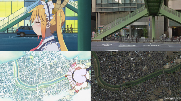 The real-life locations from Miss Kobayashi's Dragon Maid revealed