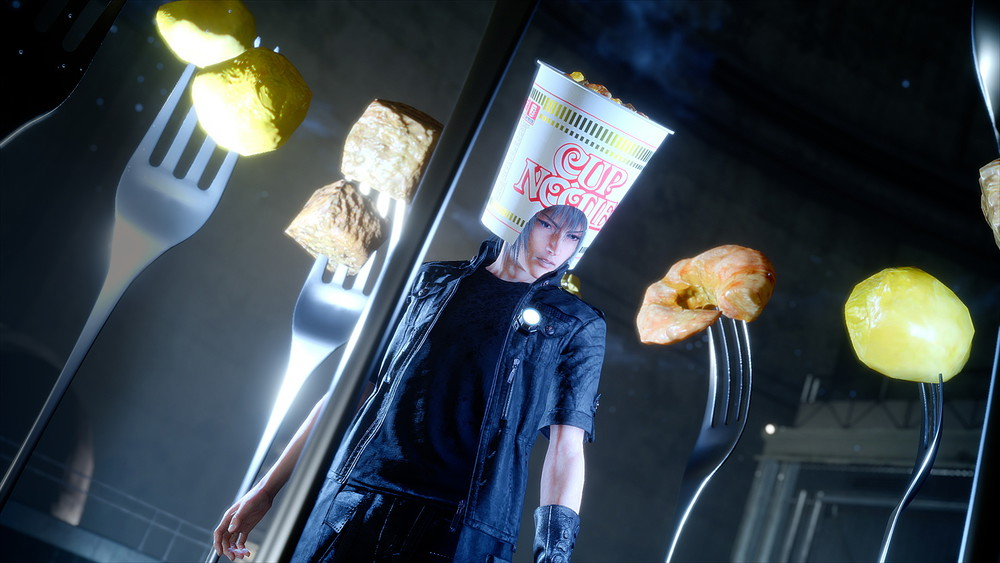 "Square Enix is adding the ""Cup Noodle Headgear"" as actual equipment for Final Fantasy XV"