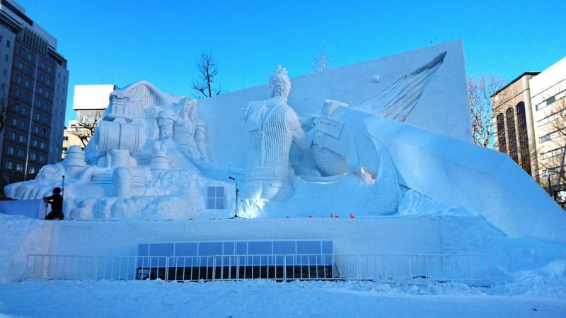 Cloud and Sephiroth battle it out in new Sapporo Snow Festival snow sculpture
