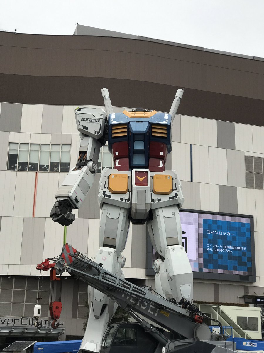 """Photos of the RX-78-2 Gundam being dismantled surface, mimic """"Last Shooting"""""""