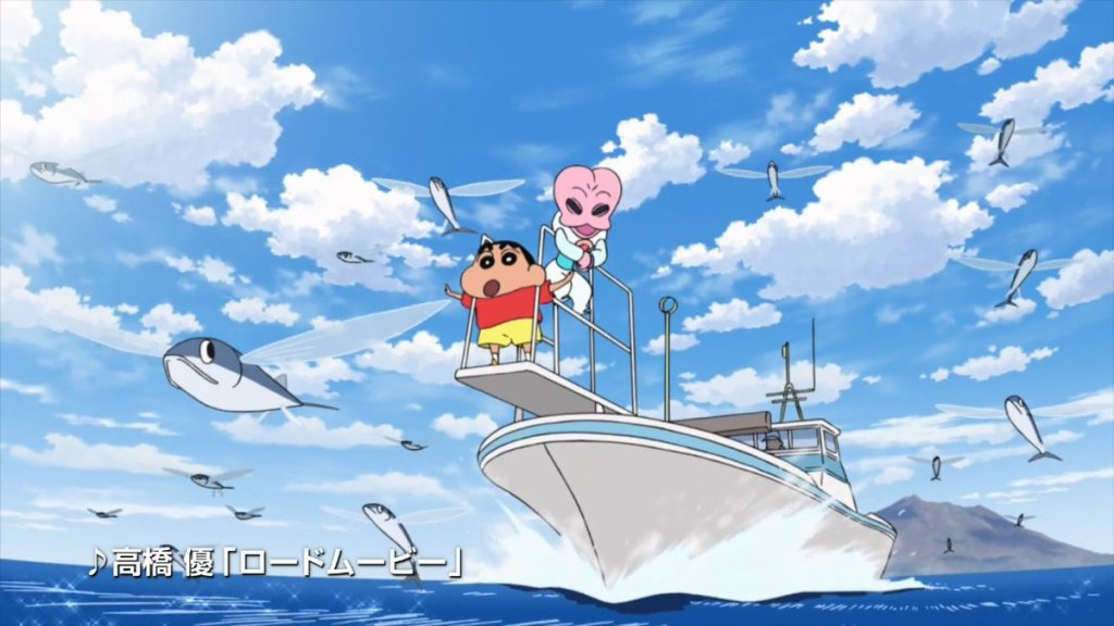 Shin-chan takes on aliens for the 25th Crayon Shin-chan film's latest TV spots