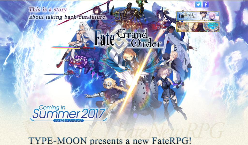 Official English version for Fate/Grand Order announced