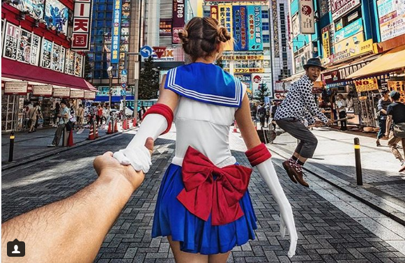 Famous #Followmeto couple explores Japan's beauty, complete with Sailor Moon cosplay!