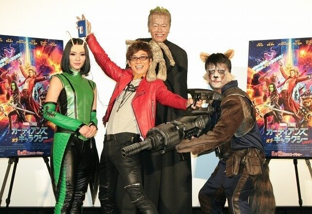 Guardians of the Galaxy Japanese dub's seiyuu cosplay as their respective characters