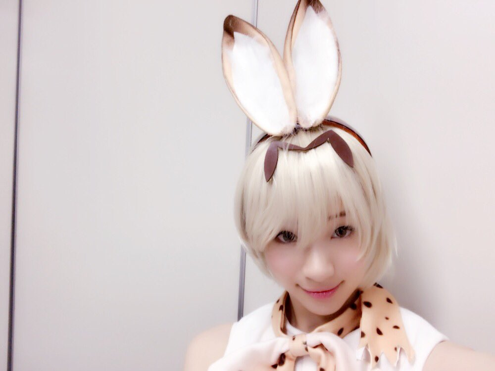 Actress Rika Adachi cosplays Serval from Kemono Friends