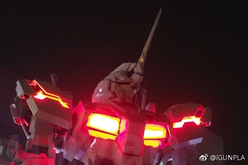 Life-size Unicorn Gundam Construction Update: Lighting for Psycho-Frame tested