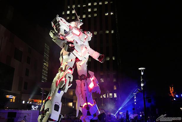 Unicorn Gundam's life-size statue officially unveiled