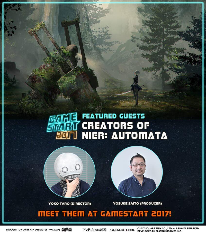 Nier: Automata's Yoko Taro and Yosuke Saito to Appear at GameStart Asia 2017!