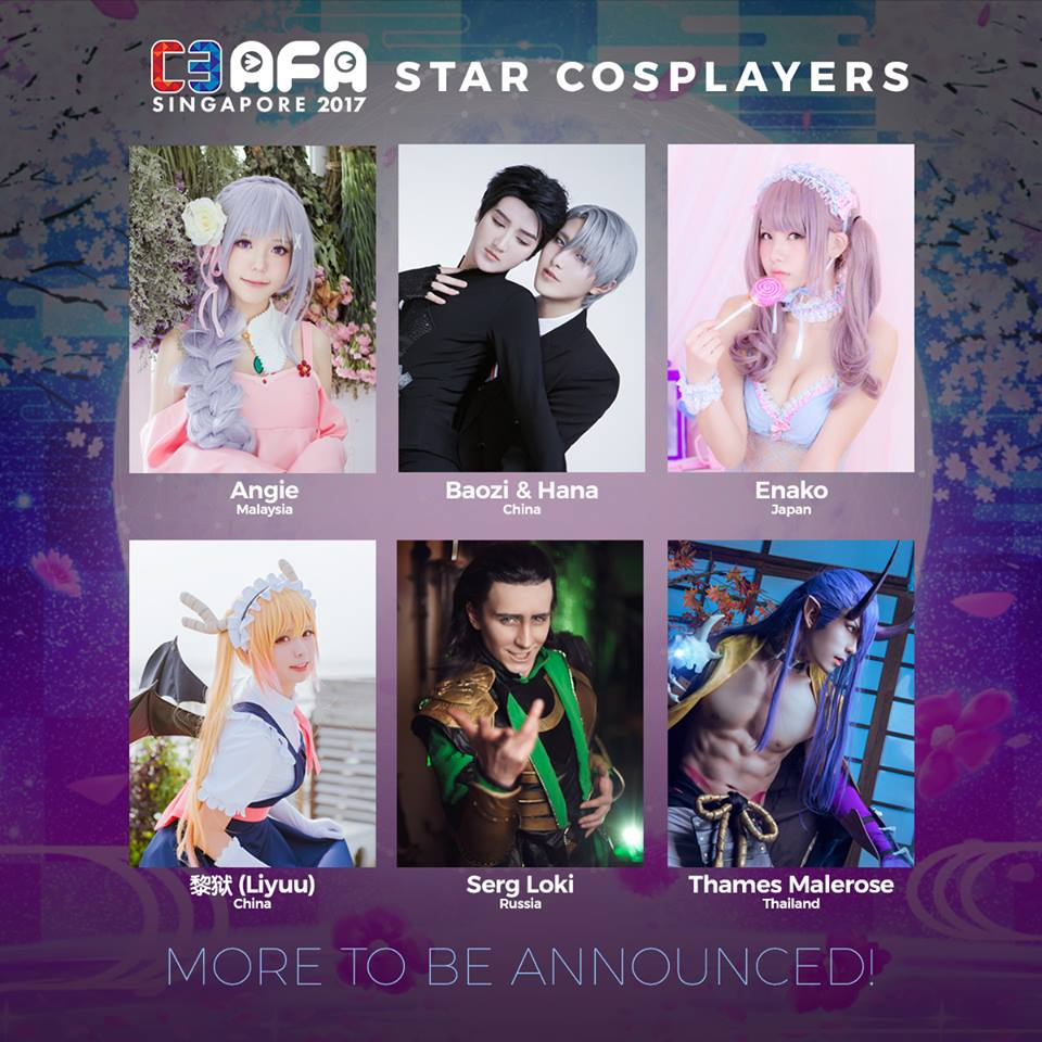 C3 AFA Singapore 2017 Reveals Star Cosplayer Line-Up!