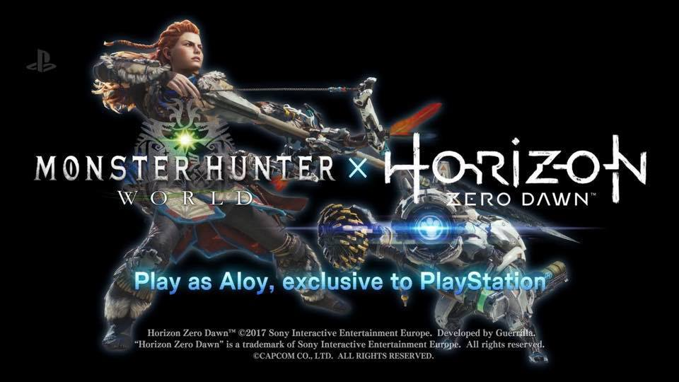 Gamers can play as Horizon: Zero Dawn's Aloy in the Monster Hunter World PS4 game
