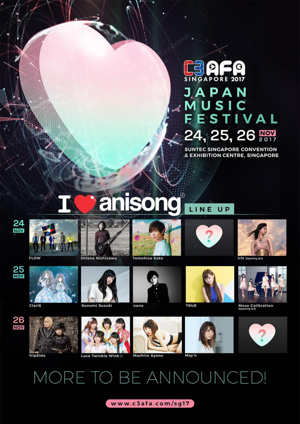 C3 AFA Singapore 2017 Brings Fans Third Wave of I Love Anisong Artistes!