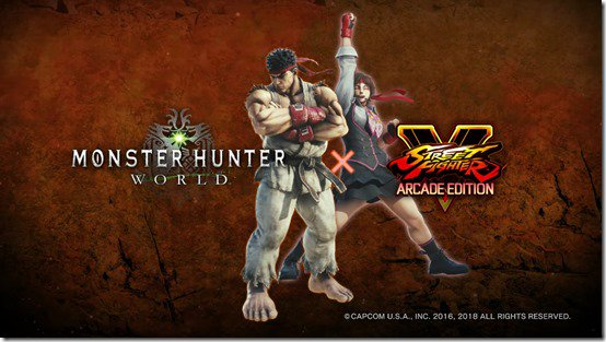 Monster Hunter World teams up with Street Fighter for new Ryu and Sakura skins