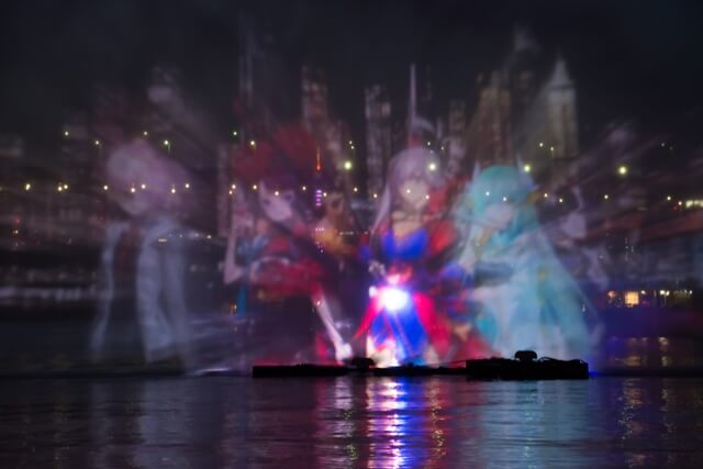 Fate/Grand Order does a captivating water projection show in Odaiba