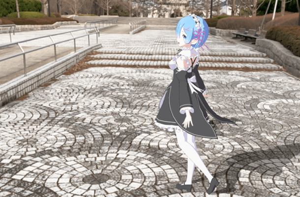 Go dating in the real world with Re:Zero's Rem via Augmented Reality (AR)