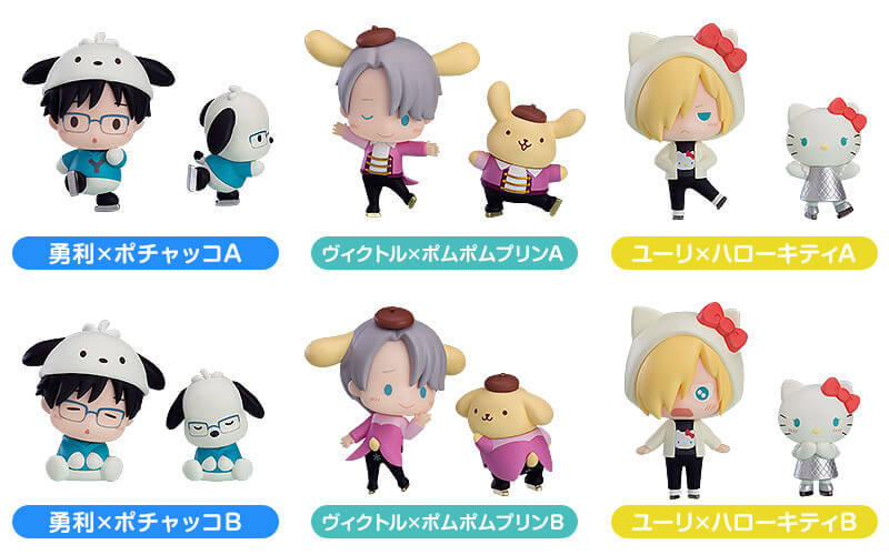 Yuri!! on Ice characters meet Sanrio mascots in adorable new trading figures