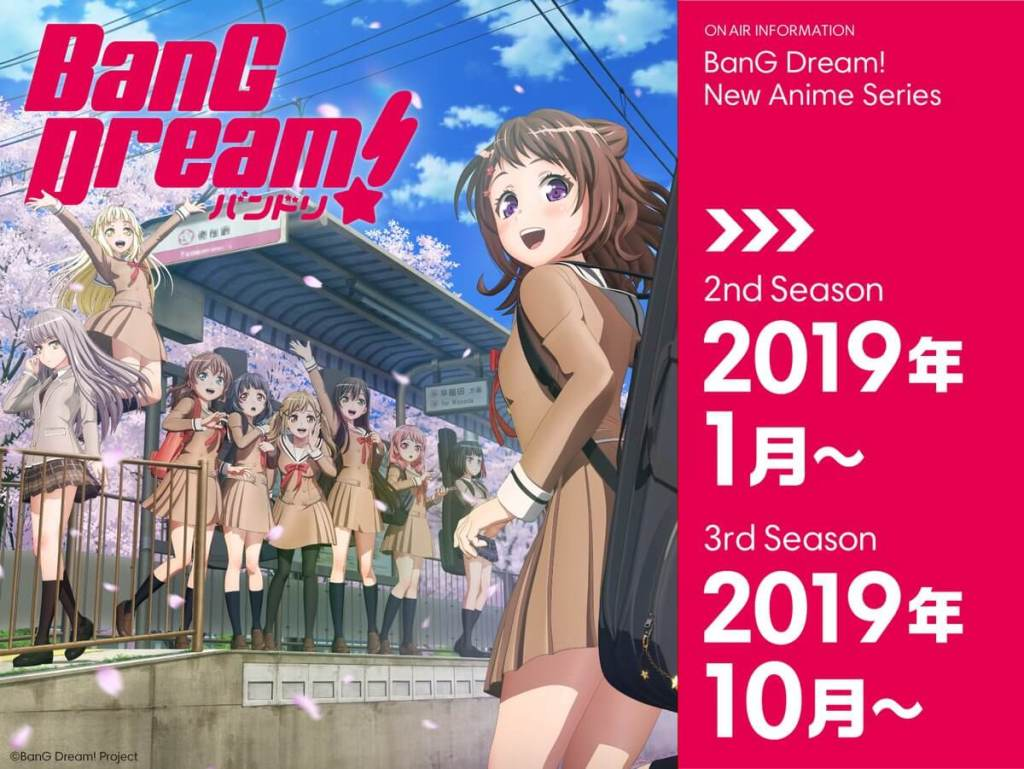 Musical franchise BanG Dream to get 2nd and 3rd seasons