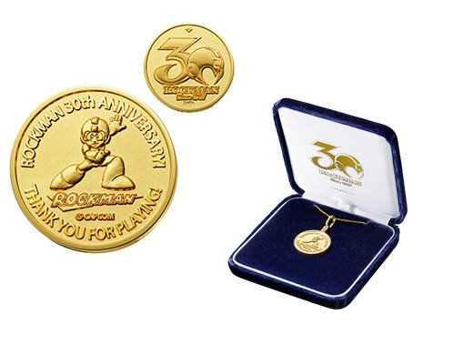 Megaman gets a solid gold 30th anniversary medal worth 350,000 yen