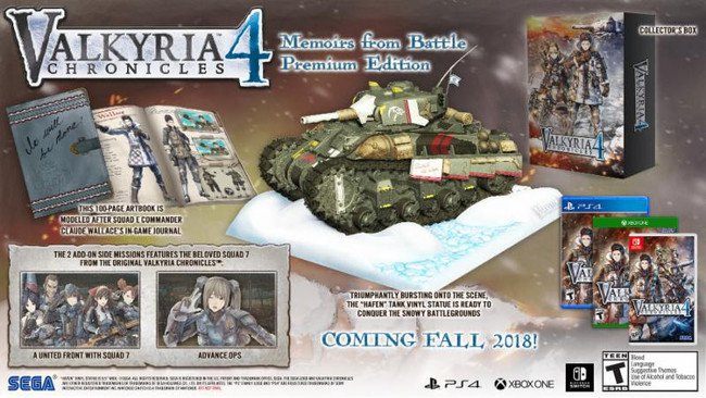 Valkyria Chronicles 4 (PS4/Switch/Xbox One/PC) unveils OP movie