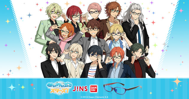 """""""Ensemble Stars"""" Teams up with JINS to Release """"Units""""-style Eyewear"""