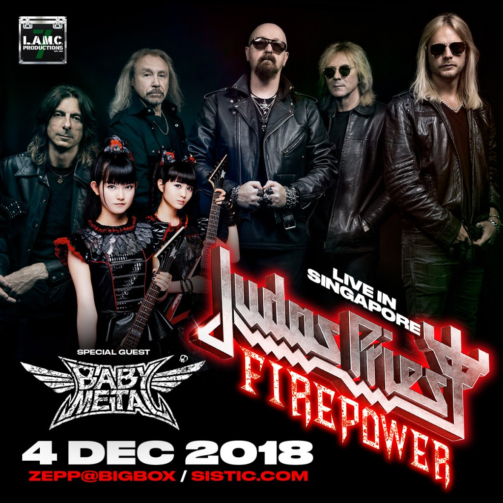 Win Tickets to Judas Priest x BABYMETAL in Singapore from WOW Japan!