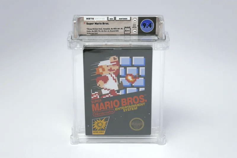 Sealed copy of original Super Mario Bros. game sells for over 100,000 USD