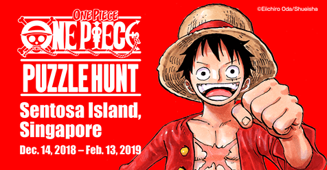 ONE PIECE PUZZLE HUNT currently happening in Sentosa!