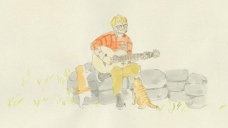Ed Sheeran's new music video is animated by renowned mangaka Yoriko Hoshi