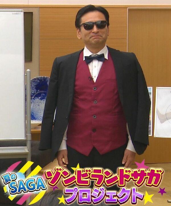 Saga governor expresses love for Zombie Land Saga by cosplaying Koutaro